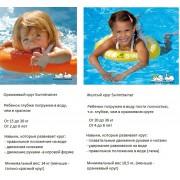 Круг для плавания Swimtrainer оранжевый и желтый -какой выбрать