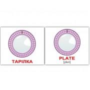 Мини карточки Домана англо-украинские Посуд Kitchenware 20 шт