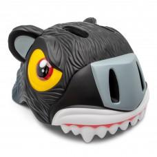 Детский шлем Crazy Safety Тигр черный 2-7 лет c фонариком S