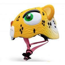 Детский шлем Crazy Safety Леопард желтый 2-7 лет c фонариком S