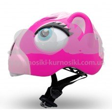 Детский шлем Crazy Safety Лошадка розовая 2-7 лет c фонариком S
