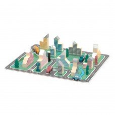 Деревянный игровой набор Viga Toys PolarB Город 56 элементов 44040
