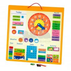 Магнитный календарь Viga Toys на английском языке