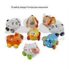 Игрушка Веселый зоопарк 8 зверушек