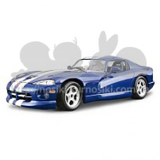 Автомобиль-конструктор  DODGE VIPER GTS COUPE (1996) (синий, 1:24)