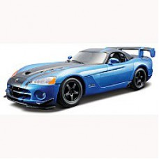 Автомобиль-конструктор  DODGE VIPER SRT10 ACR (2008)  (голубой металлик, 1:24)