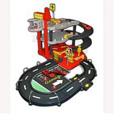 Игровой набор ГАРАЖ FERRARI 3 уровня 2 машинки 1к43