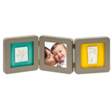 Рамочка Baby Art Double Print Frame  taupe azure-sun