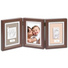 Рамочка Baby Art Double Print Frame brown taupe-beige