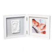 Baby Art Двойная рамка квадратная Бело/серая