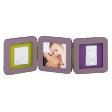 Рамочка Baby Art Double Print Frame TAUPE LIME-PLUM