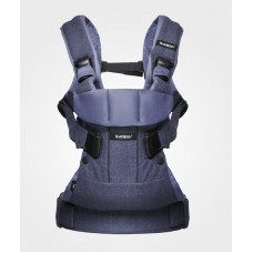 Рюкзак кенгуру Baby Bjorn Carrier ONE Denim blue-Blue Cotton Mix