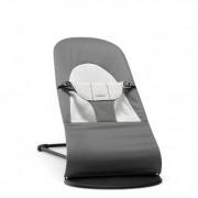 Кресло шезлонг для новорожденного Baby Bjorn Balance Soft темно серый хлопок