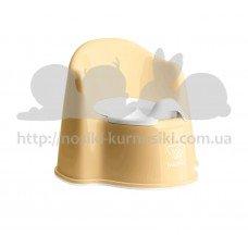 Детский горшок Baby Bjorn Potty Chair желтый белый