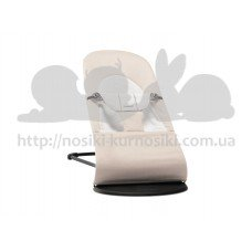 Кресло шезлонг для новорожденного Baby Bjorn Balance Soft бежевый серый хлопок