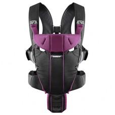 Рюкзак-кенгуру Baby Bjorn Carrier Miracle Black-Purple Cotton Mix