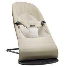 Кресло-шезлонг детский Baby Bjorn Balance Soft Хаки бежевый Cotton