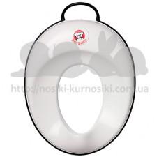 Накладка детская на унитаз Baby Bjorn Toilet Trainer белый черный