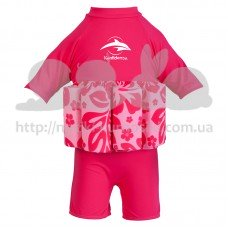 Купальник-поплавок Konfidence Floatsuits Hibiscus Pink S 1-2 года