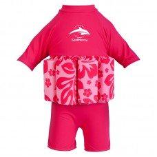 Купальник-поплавок Konfidence Floatsuits Hibiscus Pink L 4-5лет