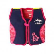 Плавательный жилет Original Jacket Navy Pink Hibiscus 6 7 лет