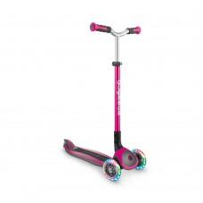 Самокат Globber Master Lights розовый колеса с подсветкой до 50кг от 4 лет