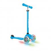 Самокат Globber Primo Lights голубой колеса с подсветкой до 50кг от 3 лет 3 колеса