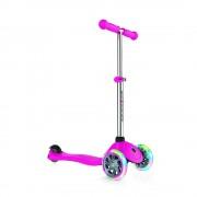 Самокат Globber Primo Lights розовый колеса с подсветкой до 50кг от 3 лет 3 колеса