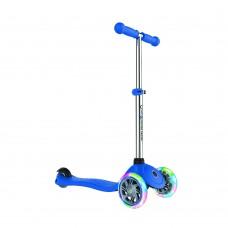 Самокат Globber Primo Lights синий колеса с подсветкой до 50кг от 3 лет 3 колеса