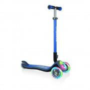 Самокат Globber трехколесный Elite синий колеса и панель с подсветкой до 50кг от 3 лет
