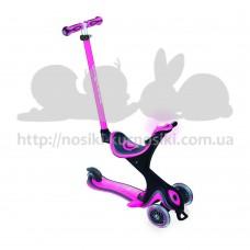 Самокат Globber трехколесный Go Up Comfort Play 5 в 1 розовый до 20 50кг от 1 года