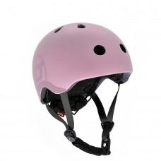 Шлем защитный детский Scoot and Ride пастельно-розовый с фонариком 51-55см S M