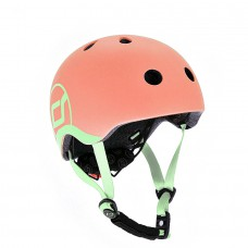 Шлем защитный детский Scoot and Ride персик с фонариком 51-55см S M