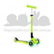 Самокат Globber Primo Foldable Lights зеленый колеса с подсветкой до 50кг от 3 лет