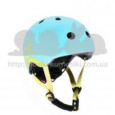 Шлем защитный детский Scoot and Ride голубика с фонариком 51-55см S M