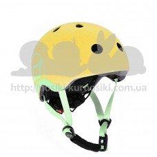Шлем защитный детский Scoot and Ride лимон с фонариком 51-55см S M