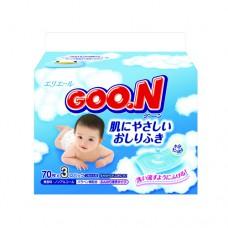 Салфетки влажные для младенцев3 упаковки по 70 Goon