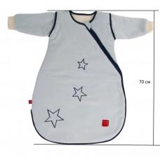 Детский демисезонный конверт человечек Kaiser Star голубой 70 см