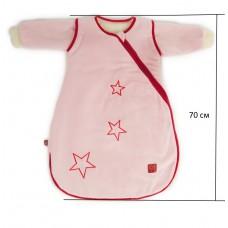 Детский демисезонный конверт человечек Kaiser Star розовый 70 см