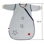 Детский демисезонный конверт человечек Kaiser Star голубой 90 см