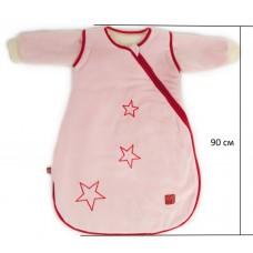Детский демисезонный конверт человечек Kaiser Star розовый 90 см