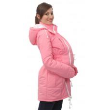 Демисезонная куртка для беременности плюс слинговставка Катинка розовый