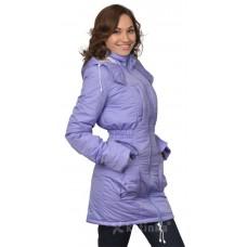 Демисезонная куртка для беременности плюс слинговставка Катинка сирень