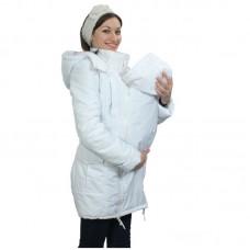 Демисезонная слингокуртка для мамы белый Катинка