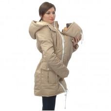 Демисезонная слингокуртка для мамы бежевый Катинка