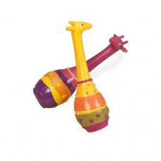 Музыкальная игрушка ДЖУНГЛИ набор маракасов ДВА ЖИРАФА