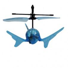 Летающий шар на ИК управлении Aero Spin синий подсветка