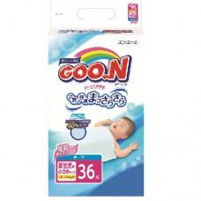 Подгузники Goon для маловесных новорожденных 1 8-3 кг р SSS унисекс 36 шт