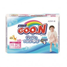 Трусики-подгузники Goon для девочек 13-25 кг размер BigBig XXL 28 шт