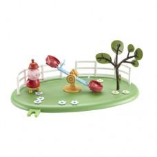 Игровой набор Peppa Игровая площадка качели фигурка Пеппы